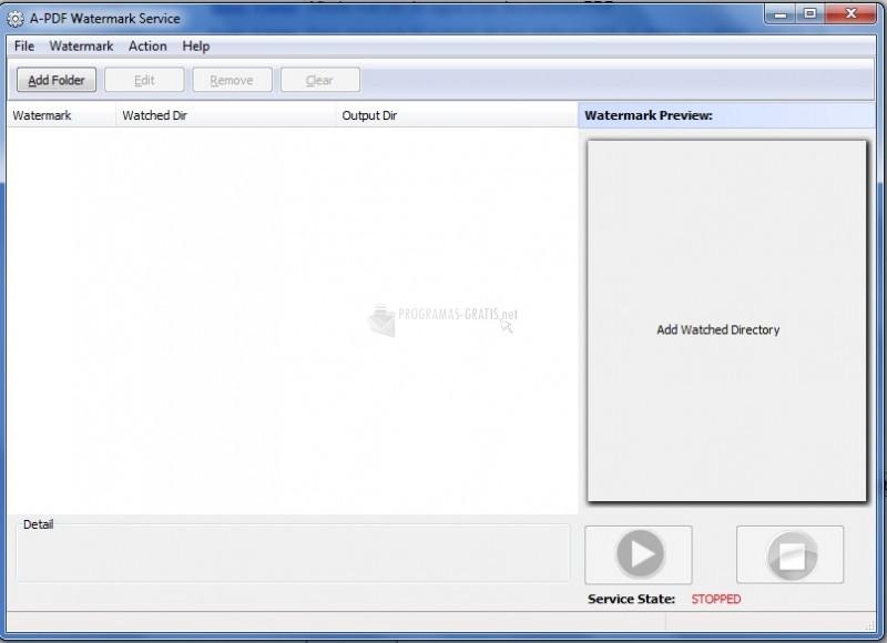 Pantallazo A-PDF Watermark Service