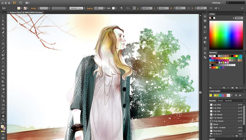 Pantallazo Adobe Illustrator