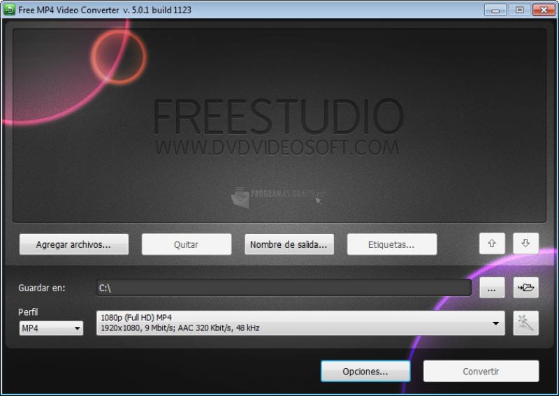 Pantallazo Free MP4 Video Converter