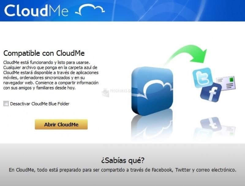 Pantallazo CloudMe
