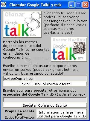 Pantallazo Clonador Google Talk
