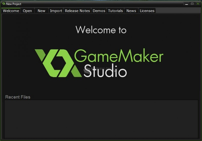 Pantallazo GameMaker Studio