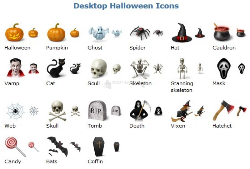 Pantallazo Desktop Halloween Icons