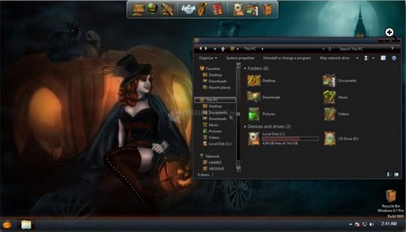 Pantallazo Halloween SkinPack para Windows 8