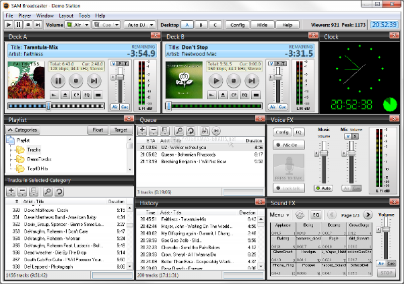 Pantallazo SAM Broadcaster Pro
