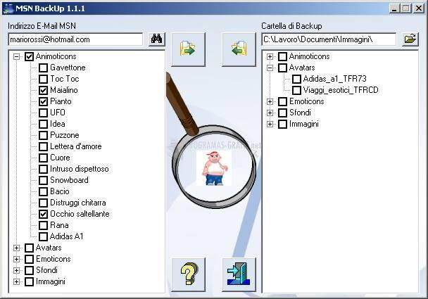 Pantallazo MSN Backup