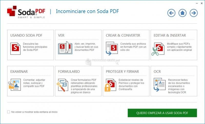 Pantallazo Soda PDF Professional