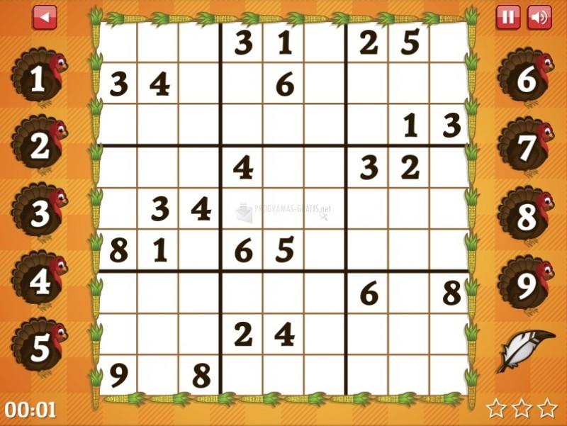 Pantallazo Hard Thanksgiving Sudoku