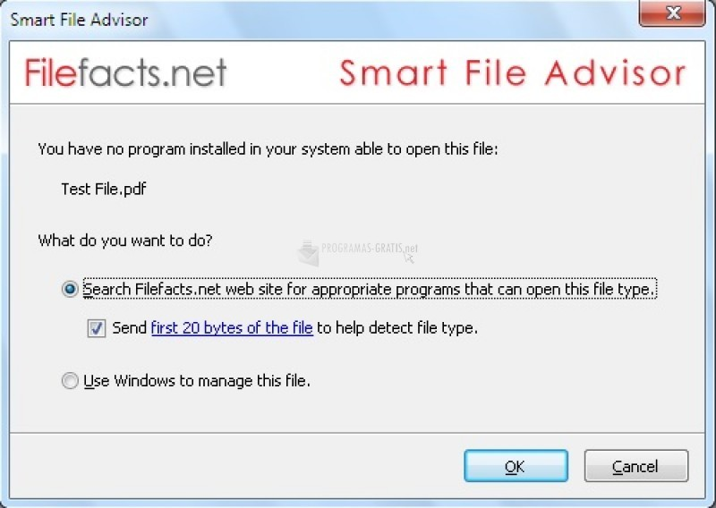 Pantallazo Smart File Advisor