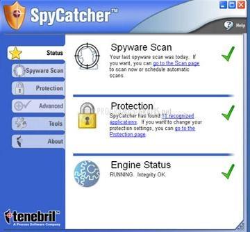 Pantallazo SpyCatcher