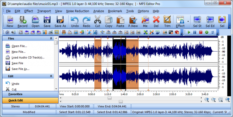 Pantallazo MP3 Editor Pro