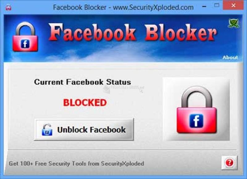 Pantallazo Facebook Blocker