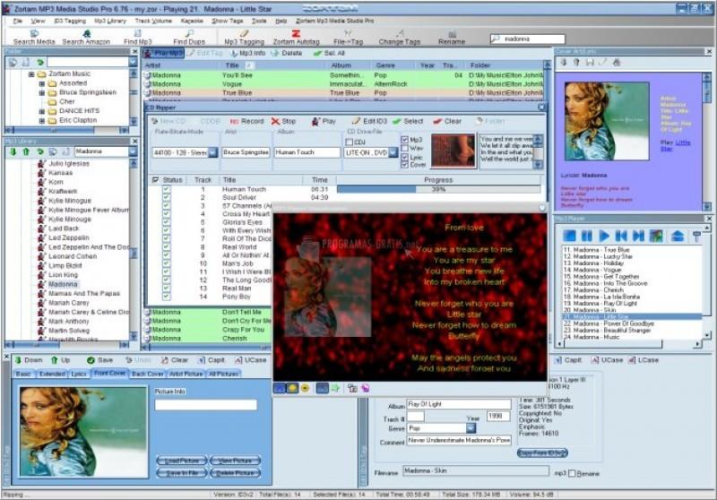 Pantallazo Zortam MP3 Media Studio