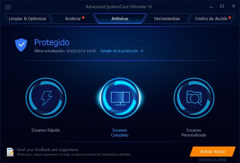 Pantallazo Advanced SystemCare Ultimate