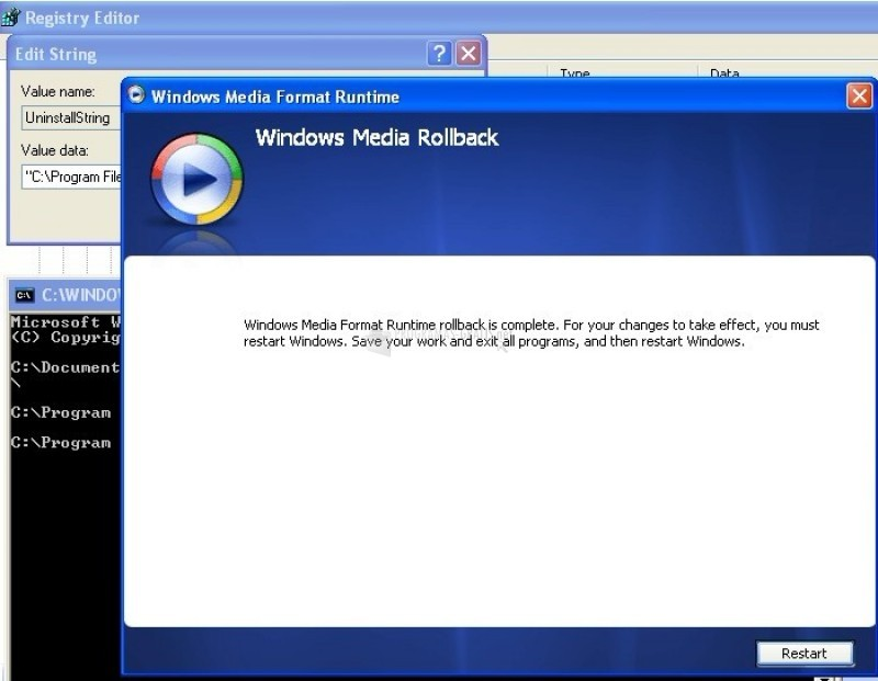 Pantallazo Windows Media Format Runtime para Windows 7