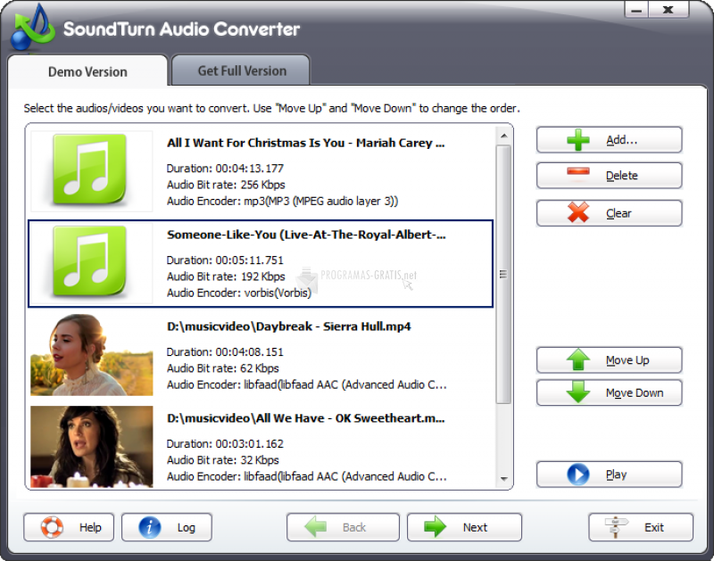 Pantallazo SoundTurn Audio Converter
