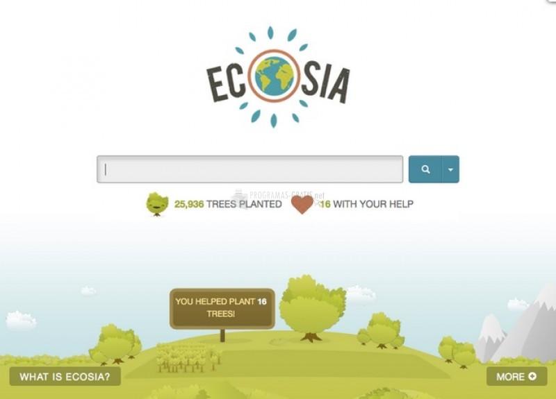Pantallazo Ecosia