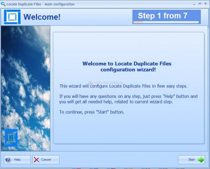 Pantallazo Locate Duplicate Files