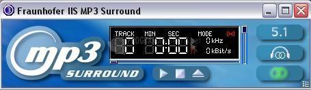 Pantallazo Fraunhofer MP3 Surround