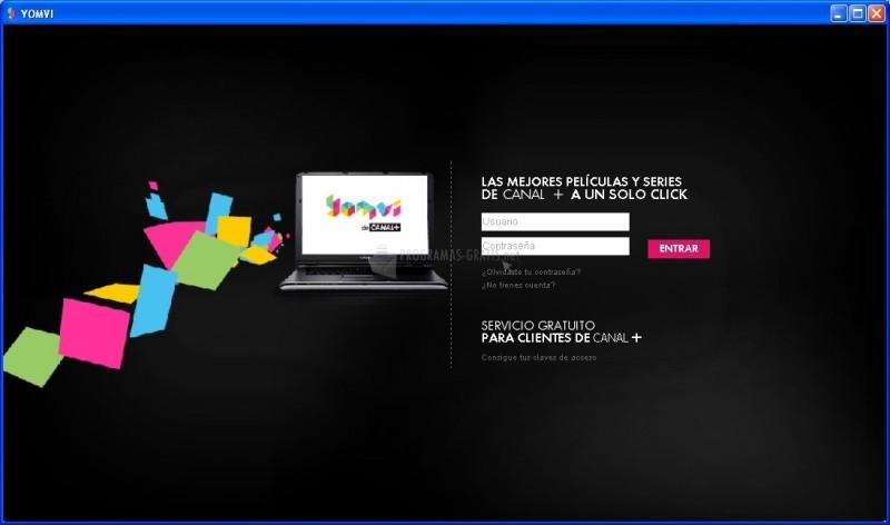 Pantallazo Canal+ Yomvi para PC
