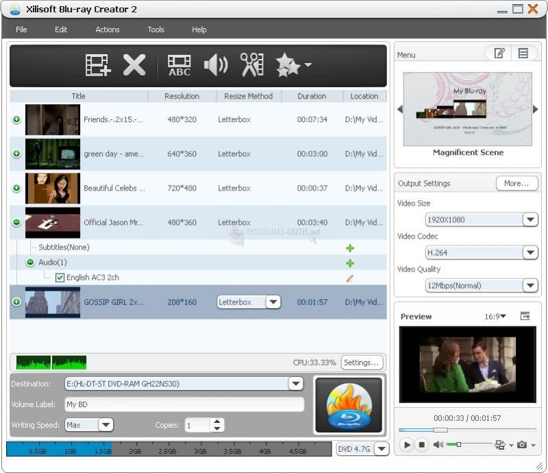 Pantallazo Xilisoft Blu-ray Creator
