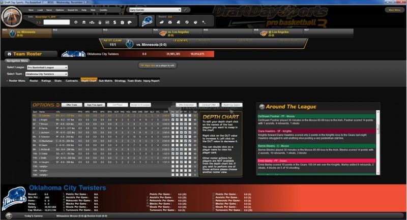 Pantallazo Draft Day Sports: Pro Basketball 3