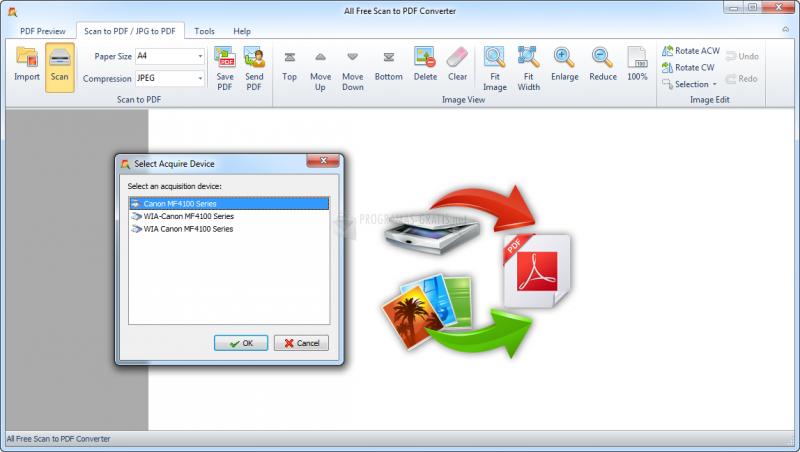 Pantallazo All Free Scan to PDF Converter