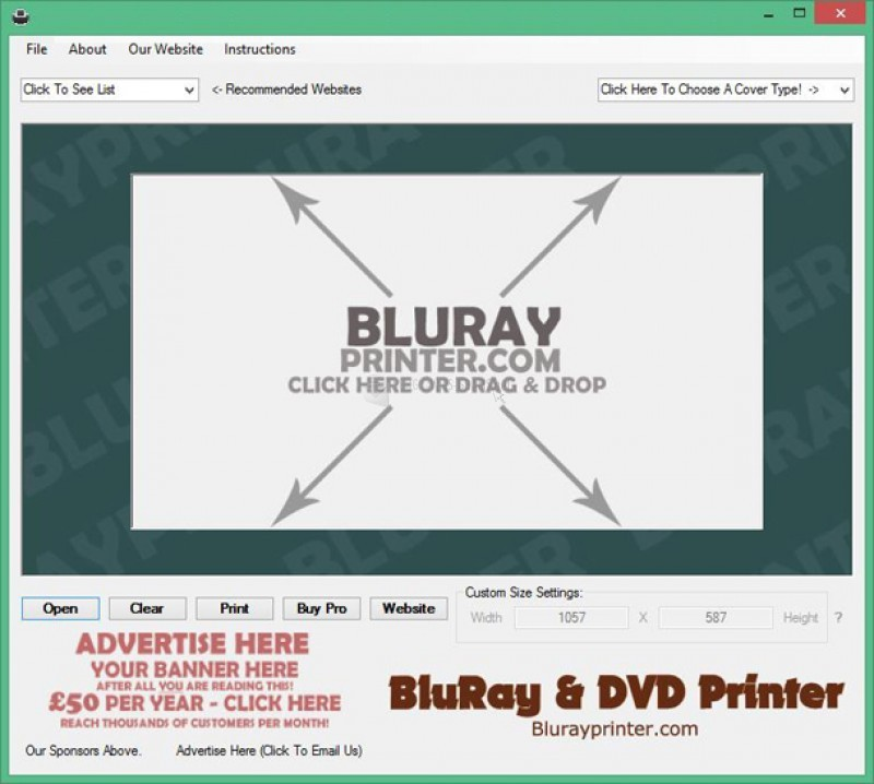 Pantallazo Bluray Cover Printer