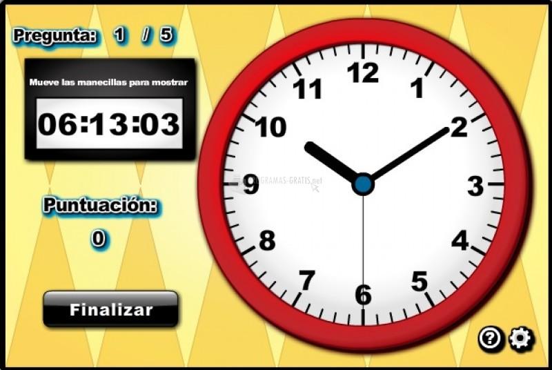 Pantallazo Manecillas del Reloj