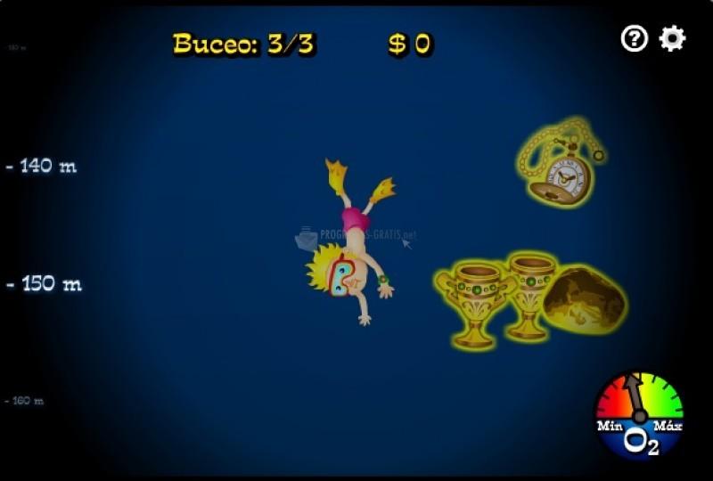 Pantallazo Buceo hacia la búsqueda del tesoro