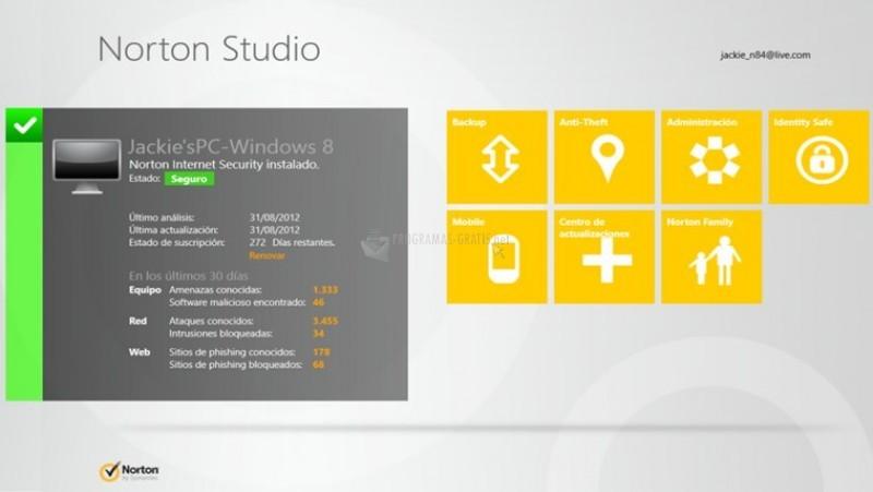 Pantallazo Norton Studio