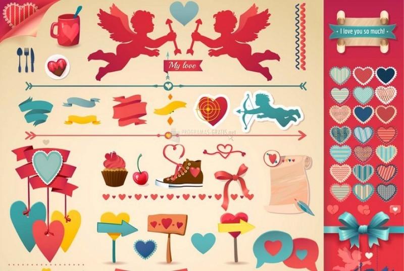Pantallazo Free Valentines Vector Pack