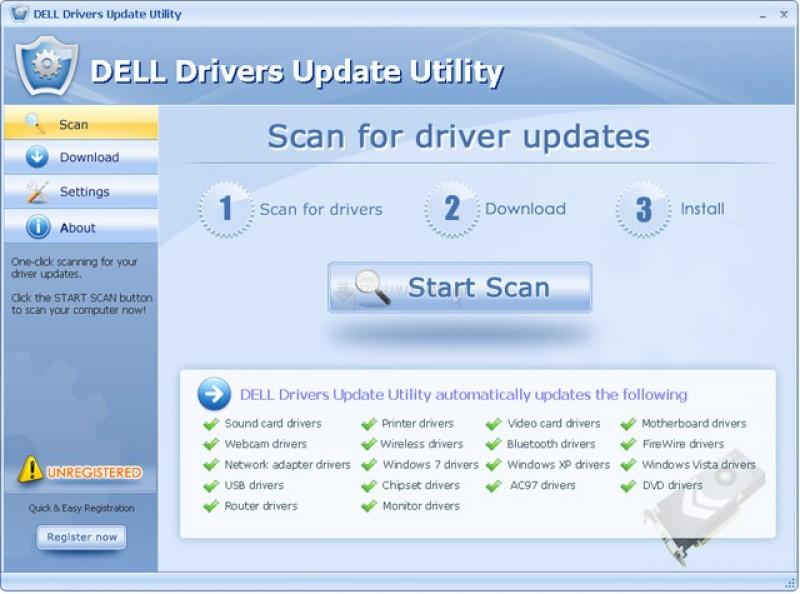 Pantallazo DELL Drivers Update Utility