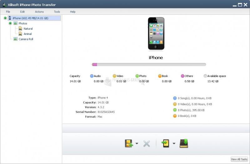 Pantallazo Xilisoft iPhone Photo Transfer