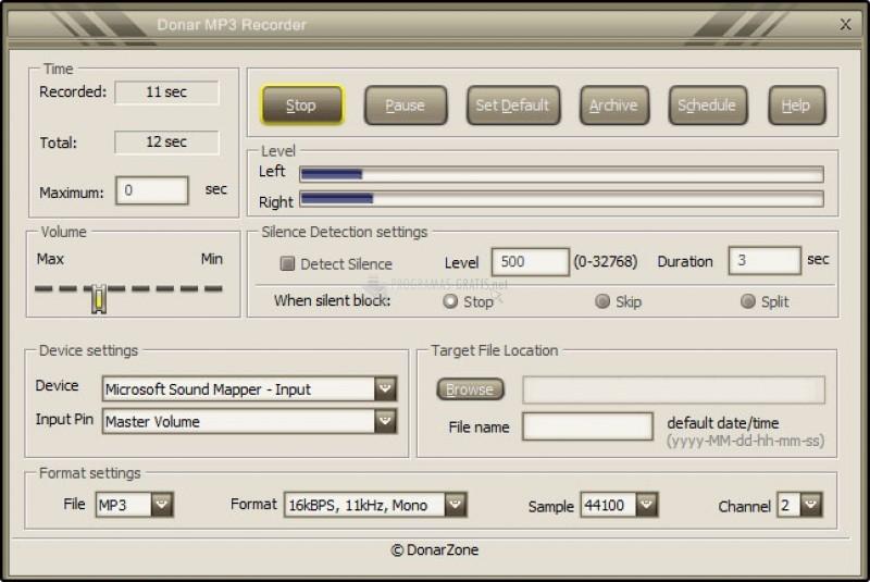 Pantallazo Donar MP3 Recorder