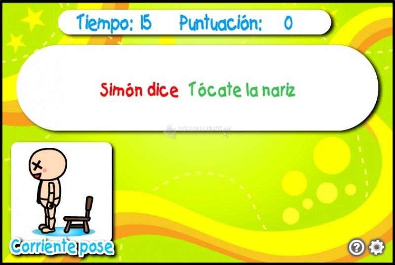 Pantallazo Simón dice