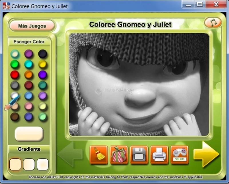 Pantallazo Gnomeo and Juliet Coloring