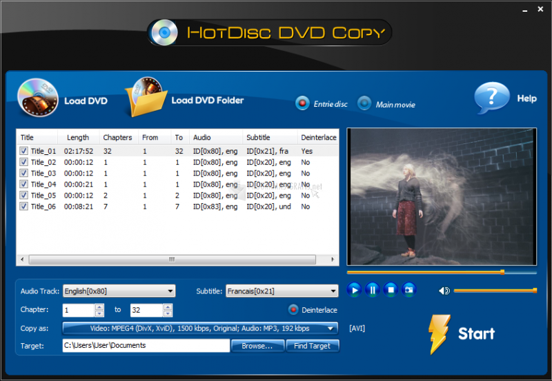 Pantallazo HotDisc DVD Copy