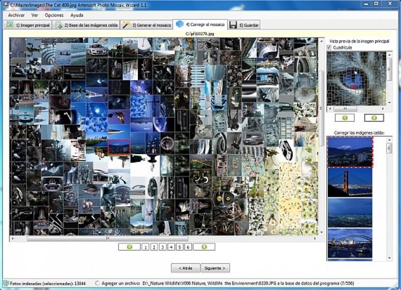 Pantallazo Artensoft Photo Mosaic Wizard