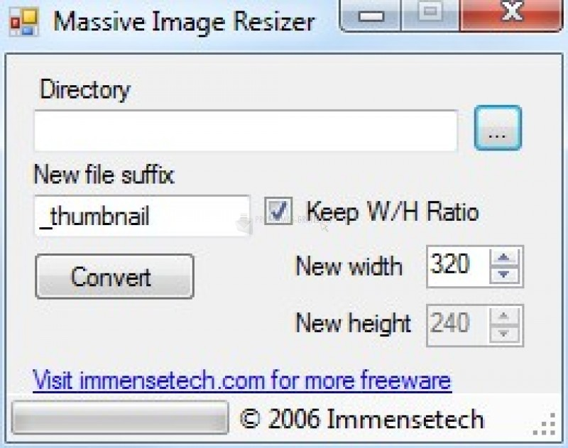 Pantallazo MIR - Massive Image Resizer