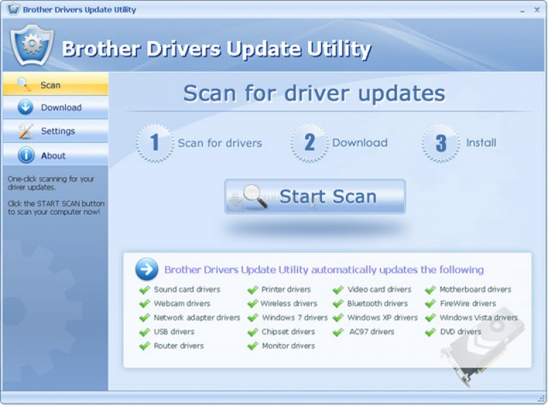 Pantallazo Brother Drivers Update Utility