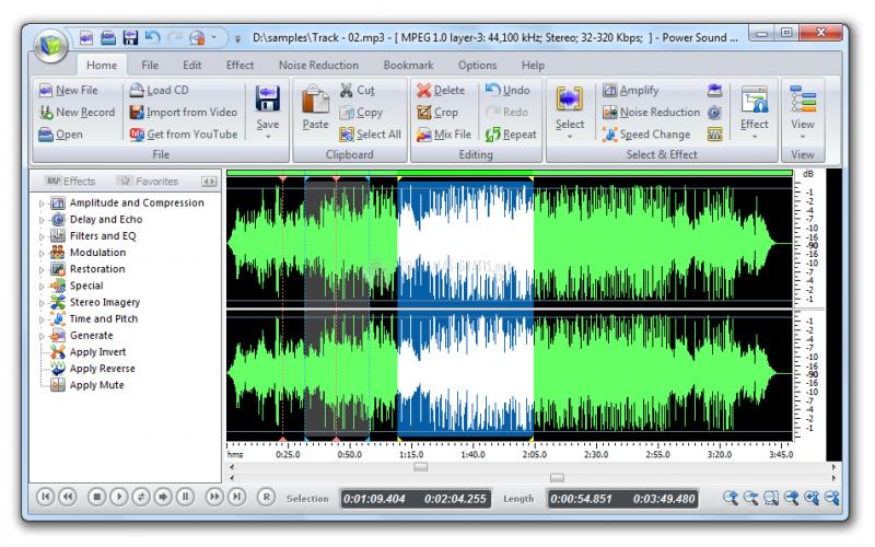 Pantallazo Power Sound Editor Free