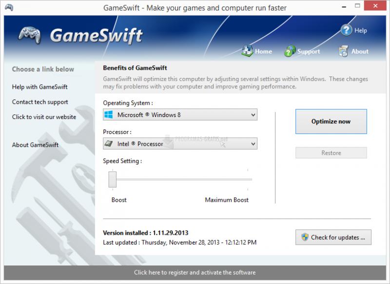 Pantallazo GameSwift