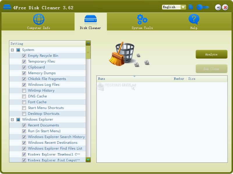 Pantallazo 4Free Disk Cleaner