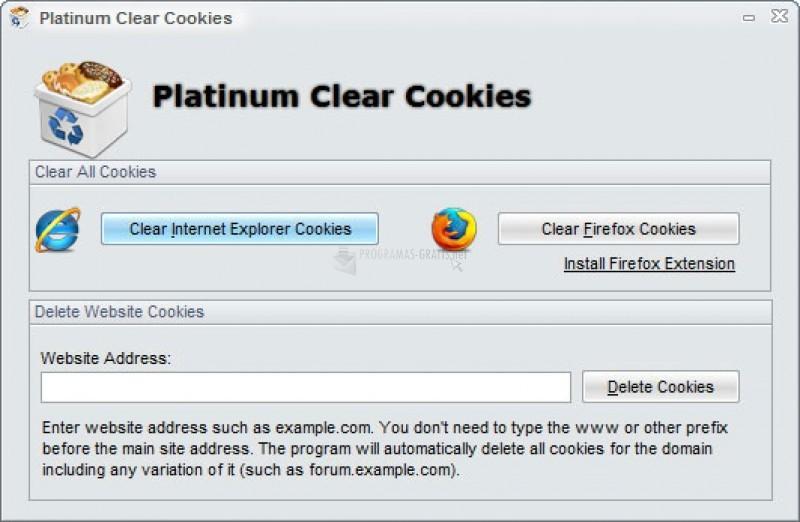 Pantallazo Platinum Clear Cookies