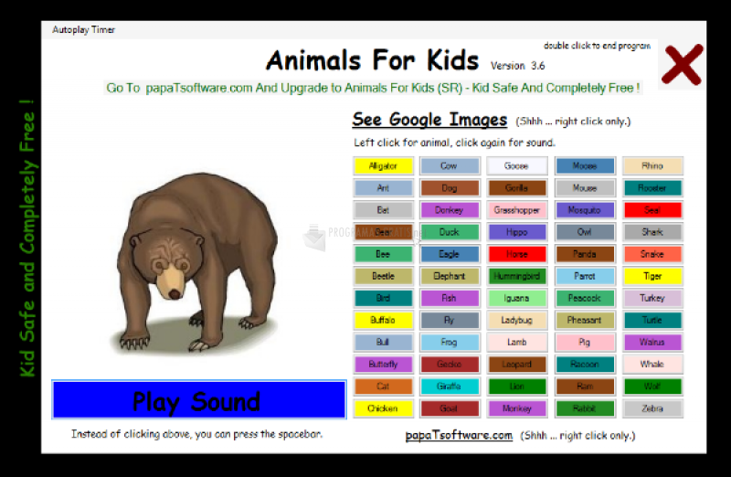 Pantallazo Animals For Kids