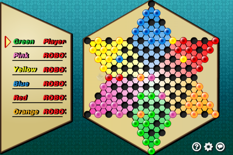 Pantallazo Multiplayer Chinese Checkers
