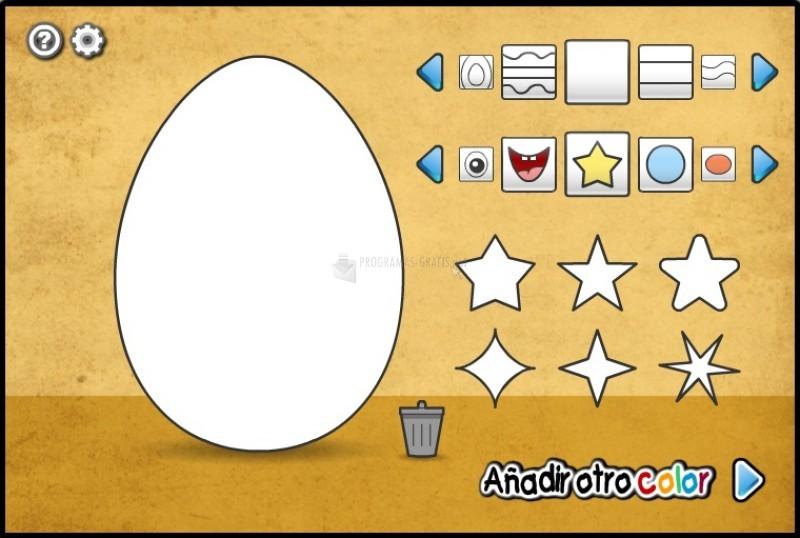 Pantallazo Diseñador del Huevo de Pascua