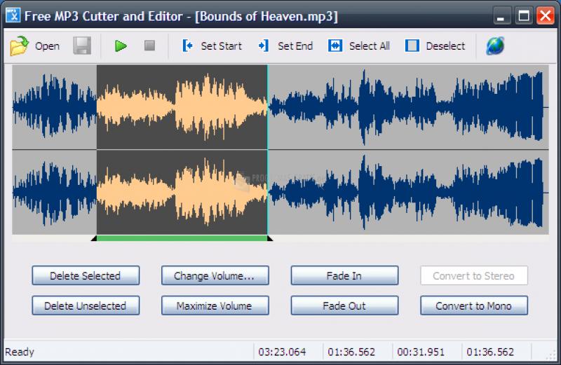 Pantallazo Free MP3 Cutter and Editor