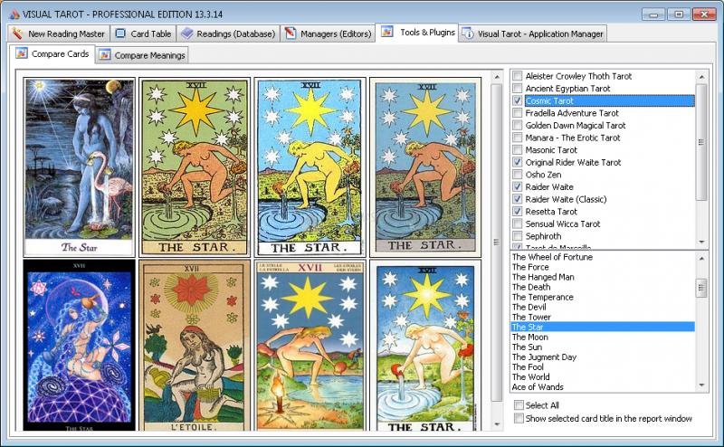 Pantallazo Visual Tarot Professional Edition